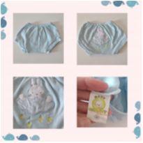 Tapa fralda Azul tamanho M cód 8 - 3 a 6 meses - baby charmy e Baby charmy confecções