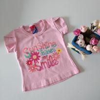Camisetinha Básica Rosa Baby cód 11 - 0 a 3 meses - Alemara Malhas