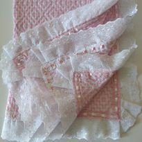 Manta decorada para menina pode usar como saída da maternidade - Recém Nascido - Sem marca e Nacional sem etiqueta
