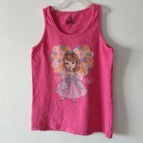 Camiseta Regata Princesinha Sofia - 12 anos - Não informada