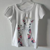 Camiseta Carter`s Girafinhas 4T - 4 anos - Carter`s