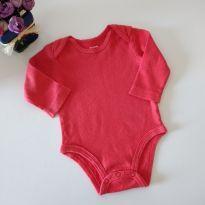 Body manga longa vermelho Carter`s 3M - 3 meses - Carter`s