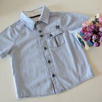 Camisa listrada para os garotinhos Pequena Mania tamanho 3 - 3 anos - Pequena Mania