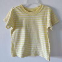 Camiseta listrada amarela Carter`s 24m - 2 anos - Carter`s