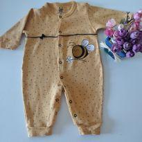 Macacão Fofo de Abelhinha em linda cor Mostarda - 0 a 3 meses - Espevitados