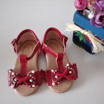 Sandália vermelha simples tamanho 18 - 18 - D Karini Baby