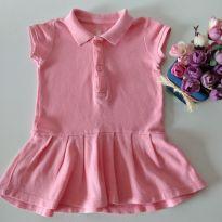 Vestido Rosa Baby Club - 6 a 9 meses - Baby Club