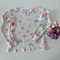 Camiseta pijama a hora do chá 5 t da Carter`s - 5 anos - Carter`s