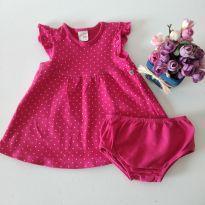 Vestido Teddy Boom com Tapa Fralda - 3 a 6 meses - Teddy Boom