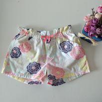 Shorts floral Gymboree Tam 4 - 4 anos - Gymboree