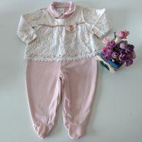 Macacão Charmoso da Paraíso Bebê Tam P - 0 a 3 meses - Paraíso Moda Bebê