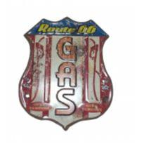 PLACA DE METAL ROUTE 66 -  - Importado