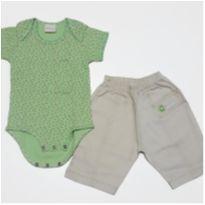 CONJUNTO BODY TYROL + CALÇA FOR BABY - 0 a 3 meses - Tyrol e For Baby