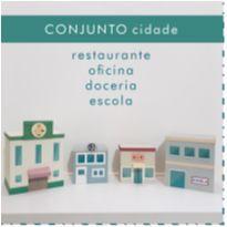 BRINQUEDO DE MADEIRA - CONJUNTO CIDADE -  - WW
