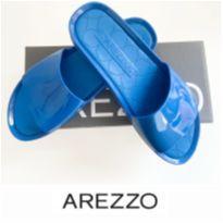 CHINELO SLIDER AZUL - AREZZO - 38 - Arezzo
