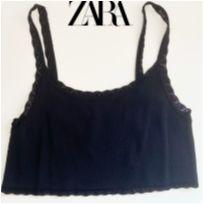 CROPPED DE TRICÔ - ZARA - 16 anos - Zara