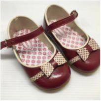 sapato boneca pimpolho 18 vermelho - usado apenas 1 vez - 18 - Pimpolho
