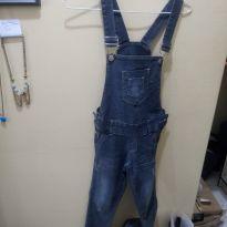 Macacão jeans - 8 anos - Não informada