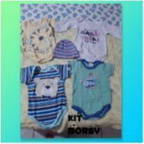 Body menino kit com 4 - 0 a 3 meses - Bicho Molhado