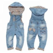 Macacão jeans - 18 a 24 meses - Importado