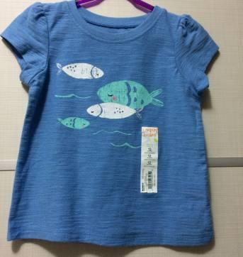 Camiseta Delicada Peixinho! Negociamos um preço para você :) - 1 ano - Jumping Beans