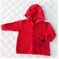Casaco de Soft Vermelho - 6 a 9 meses - Carollina baby acessórios