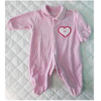 Macacão Plush Rosa - 6 a 9 meses - Carollina baby acessórios