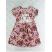 Vestido Rosa Floral - 2 anos - Vitalite