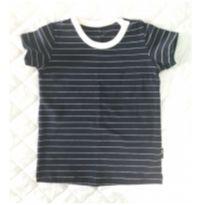 Camiseta Azul Marinho Listrada - Fanny Baby {Tam 1 ano }