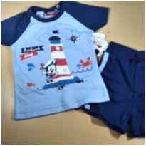 conjunto mickey camiseta + short - 6 a 9 meses - Walmart