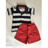 Conjunto Camisa Polo e bermuda Hering Kids