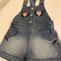 Jardineira jeans ALPHABETO - 12 a 18 meses - Alphabeto