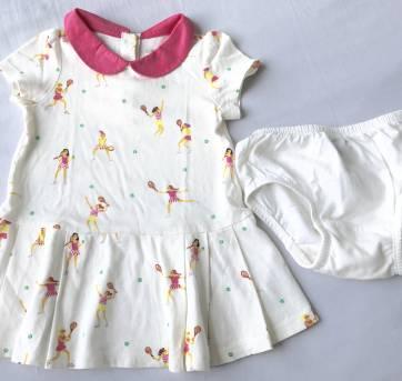 Vestido tenista BABY GAP tam 6 a 12m (forma grande) - 9 a 12 meses - Baby Gap