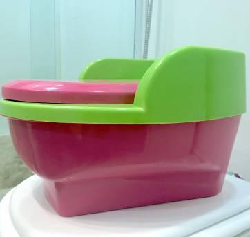 Troninho 3 em 1 colorido verde/rosa - Sem faixa etaria - Love