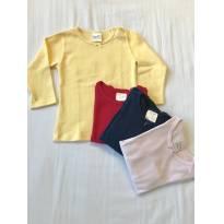 Conjunto 4 camisas manga longa BABETTE BEBÊ - 12 a 18 meses - Babette Bebê