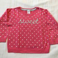 Casaco tricô rosa poá sweet CARTER´S - 18 a 24 meses - Carter`s