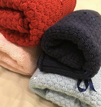 Manta tricô rosa BABETTE BEBÊ - Sem faixa etaria - Babette Bebê