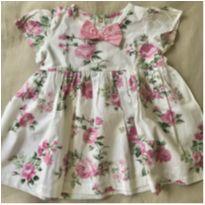 Vestido algodão flores - 12 a 18 meses - Toque Leve