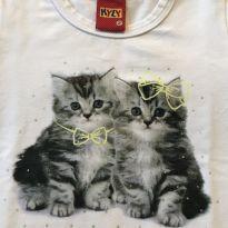 Blusa manga comprida gatinhos KYLY - 18 a 24 meses - Kyly
