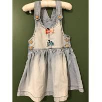 Vestidinho jeans - 24 a 36 meses - Alphabeto
