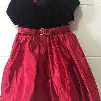 Vestido Preto e Vermelho Seda - 2 anos - Princess Faith