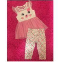 Conjuntinho Rosa Gatinho - 3 anos - Nannette Girl USA