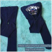 Meia calça Tip Top 3 a 6 meses - 3 a 6 meses - Tip Top