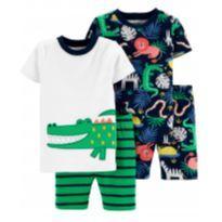 conjunto Pijama 4 Peças Jacaré, da Carter's Tam 2T - 18 a 24 meses - Carter`s