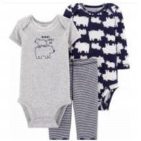 Conjunto Carters Baby 3 Pçs Urso Polar  Trio Body(Novo) - 9 a 12 meses - Carter`s