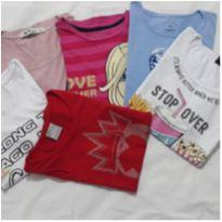 Lotinho blusinhas femininas Tam 12 - 12 anos - Diversas