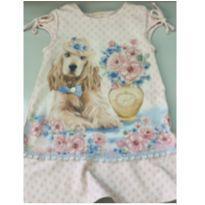 Vestido Petit Cherrie Cachorro Usando Chapéu - TAM.4 - 4 anos - Petit Cherie