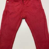 Calça jeans vermelha - 12 a 18 meses - Zara
