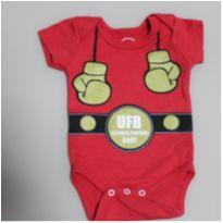 Body mini campeão Boxe - 3 a 6 meses - Basic + Baby