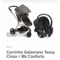 Carrinho Galzerano Tessy Cinza + Bb Conforto! Novo na Caixa!!! - Sem faixa etaria - Galzerano